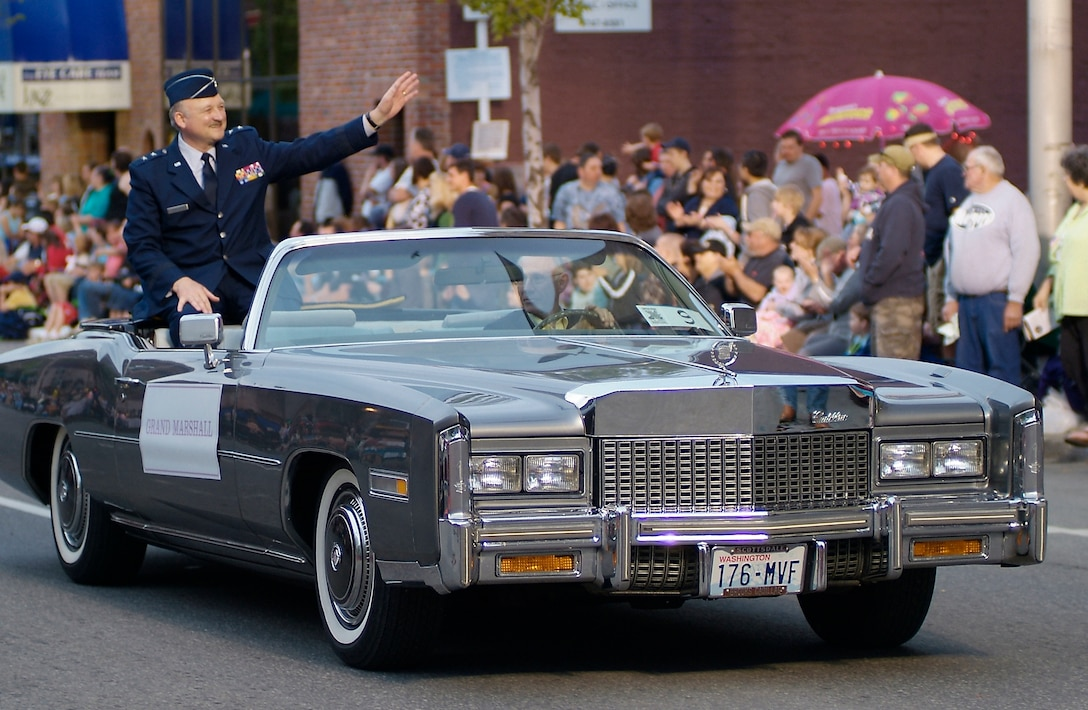 Gen Lowenberg serves as Grand Marshall of this year's Lilac Festival Armed Forces Torchlight Parade.