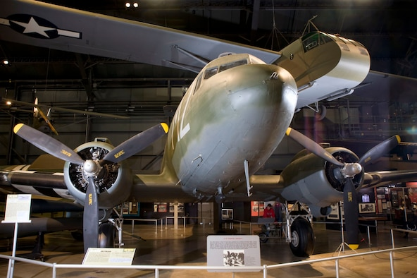 DAYTON, Ohio -- Douglas C-47D and Waco CG-4A in the World War II Gallery of the National Museum of the United States Air Force. (Air Force Museum Foundation photo by Dan Patterson)