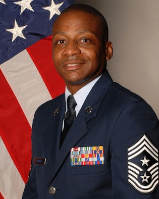 Chief Master Sgt. Anthony Brinkley, 19th Airlift Wing command chief