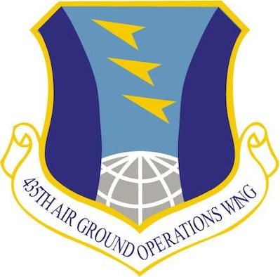 435th Air Ground Operations Wing emblem. (U.S. Air Force graphic by Staff Sgt. TerriLeigh Terry)