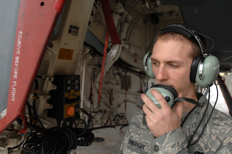 WHITEMAN AIR FORCE BASE, Mo. - Airman 1st Class Ricky Argenbright, 509th Aircraft Maintenance Squadron, electronic warfare technician, performs an operations check on a B-2 spirit prior to flight, Oct 29. 509th AMXS crew chiefs work around the clock with B-2 pilots training and staying prepared for real world missions. Twenty B-2 Spirit aircrafts are assigned to the 509th Bomb Wing. The B-2's primary mission is to attack time-critical targets early in a conflict to minimize an enemy's war-making potential. (U.S. Air Force photo/Senior Airman Kenny Holston)(Released)