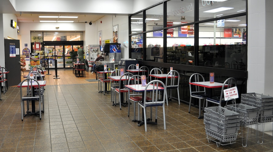 During the second phase renovation in late December, the only entrance to the Exchange will be through the Commissary entrance as the outer mall is renovated. (U.S. Air Force Photo/Sonic Johnson)