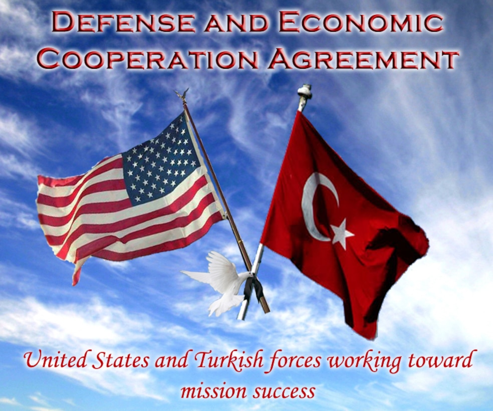 A joint team led by the office of defense cooperation-Ankara and the Turkish General Staff will arrive at Incirlik Nov. 5 to perform a compliance review as required by the 28-year old Defense and Economic Cooperation Agreement between the United States and Turkey. (U.S. Air Force graphic/ Airman 1st Class Amber Ashcraft)