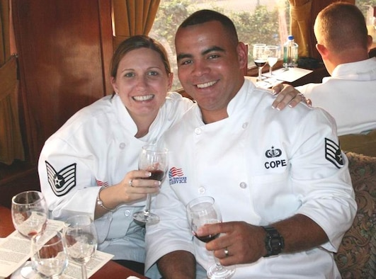 Staff Sgt. Quincy Cope and Tech. Sgt Tanya Sweeney