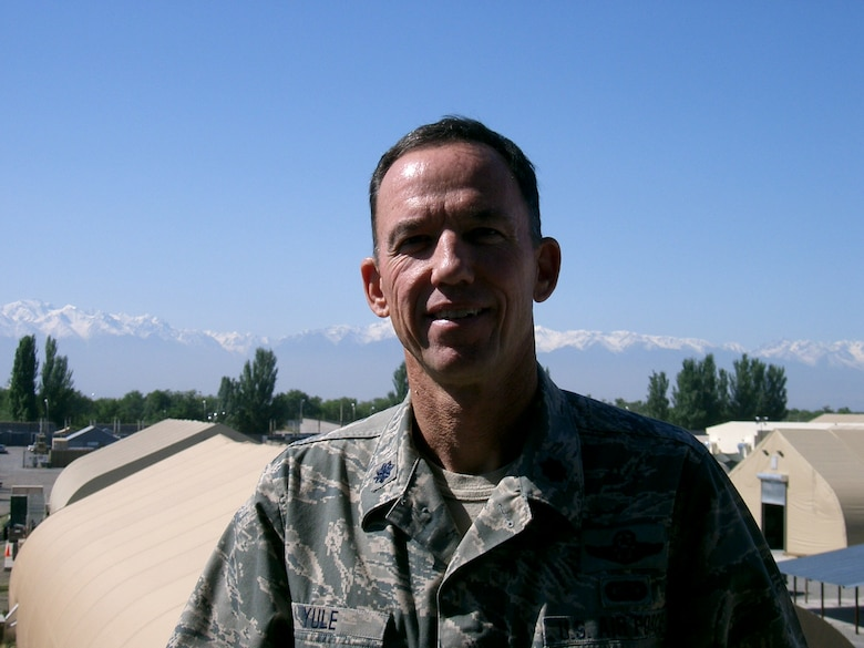 Lt Col Yule at the watchtower.