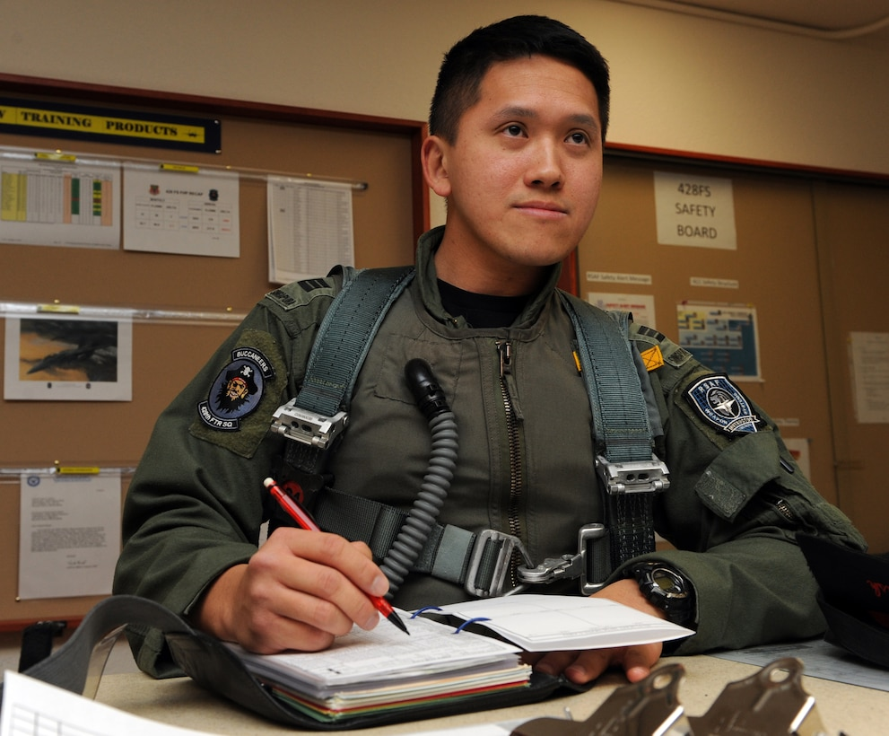 MOUNTAIN HOME AIR FORCE BASE, Idaho -- Republic of Singapore air force Capt. Peter Liow serves as the 428th Fighter Squadron Intelligence and Security liaison and an F-15SG Instructor Weapon Systems Officer. (U.S. Air Force photo by Airman 1st Class Renishia Richardson)