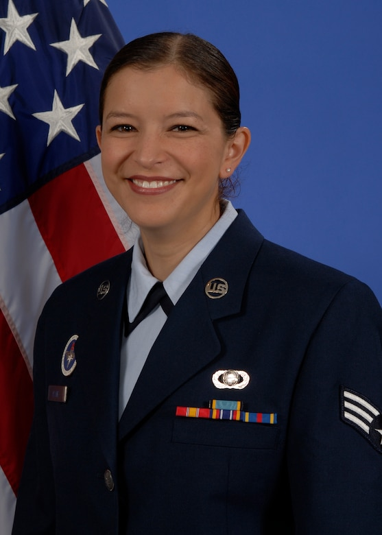 "Senior Amn Wendy Alaniz of the 217th Training Squadron at Goodfellow AFB recounts some of the recent tragedies of the past year and the significant impact her ""Wingmen"" made on her life.  (U.S. Air Force photo by Mr. Lou Czarnecki)"