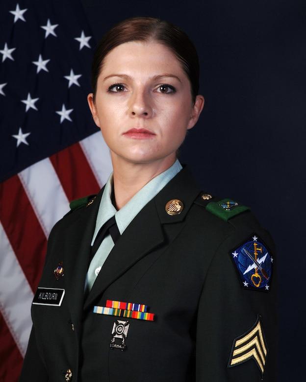 Army Sgt. Amanda Kilbourn, 743rd Military Intelligence Battalion, is Team Buckley's Warrior of the Week for November 20. (U.S. Army photo)