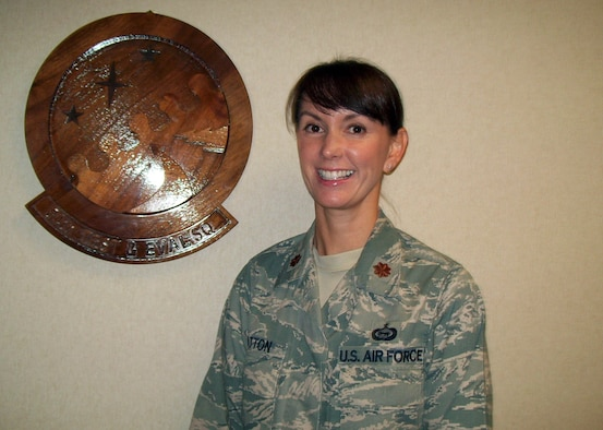 Maj. Joy Patton, 84th Test and Evaluation Squadron, was named Field Grade Officer of the Half on Oct. 3. (Photo courtesy of 84th Test and Evaluation Squadron)
