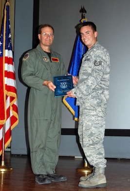 Staff Sgt. James McKeown, 926th Group, is recognized Oct. 3 as the Airman of the Half. (U.S. Air Force Reserve photo by Capt. Jessica Martin)