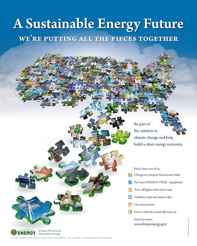"""National Energy Awareness Month is celebrated in October. This year's theme is """"A Sustainable Energy Future; Putting All the Pieces Together."""""""