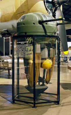 DAYTON, Ohio -- B-17 Upper Machine Gun Turret (Type A-1A) in the World War II Gallery at the National Museum of the U.S. Air Force. (U.S. Air Force photo)