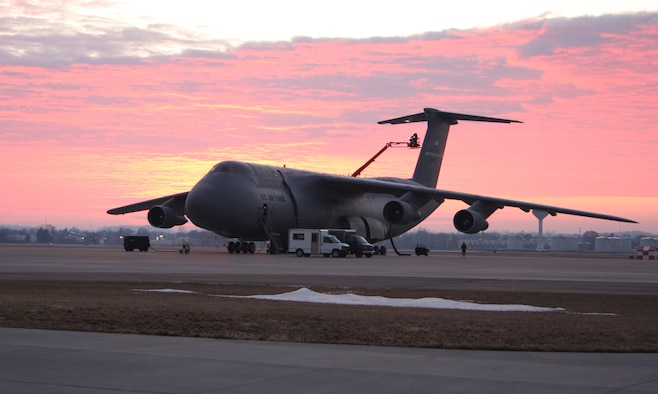 The sun set on the 445th Airlift Control Flight at Wright-Patterson Air Force Base, Ohio, Sept. 30, 2009, when the unit deactivated because Air Force Reserve Command realigned its airlift control flights. Reservists in the Wright-Patt flight transferred to other bases, retired or took other jobs in the 445th Airlift Wing, which flies the C-5 Galaxy transport aircraft. (U.S. Air Force photo/Staff Sgt. Ken LaRock)