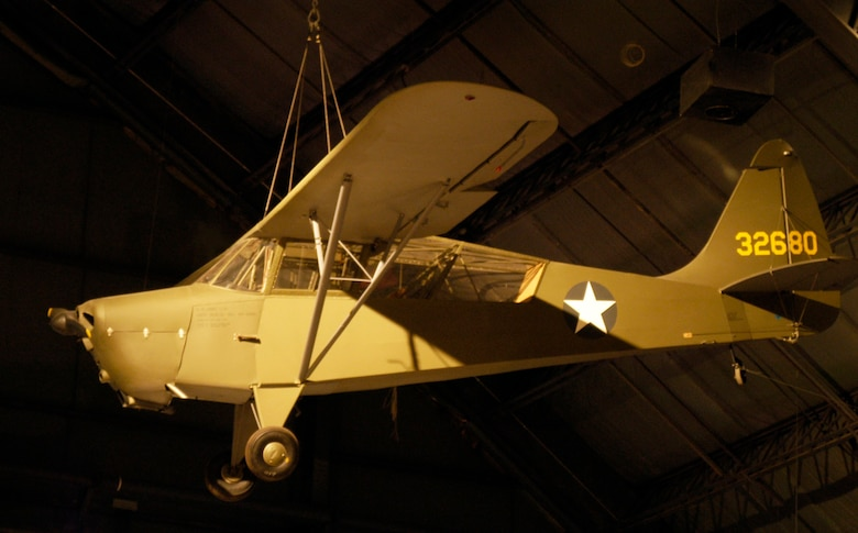 "DAYTON, Ohio -- Interstate L-6 ""Grasshopper"" at the National Museum of the United States Air Force. (U.S. Air Force photo)"