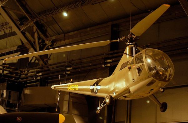 DAYTON, Ohio -- Sikorsky R-6A Hoverfly II in the World War II Gallery at the National Museum of the United States Air Force. (U.S. Air Force photo)