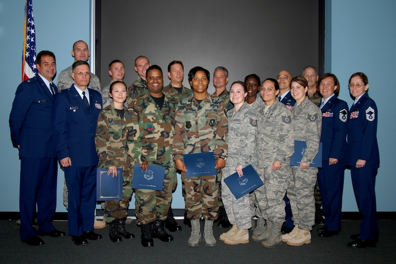 STEWART AIR NATIONAL GUARD BASE, N.Y. -The 2009 graduates of the Community College of the Air Force accepted their diplomas at a ceremony here Oct. 4.
