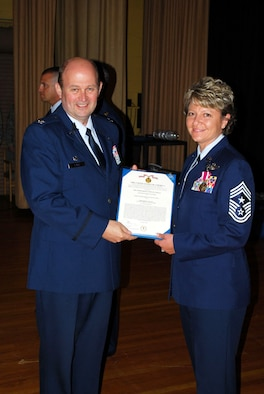 Chief Master Sergeant Tina M. Long, an Air Force Reservist with the 507th Air Refueling Wing, recently received the Air Force Meritorious Service Medal. 