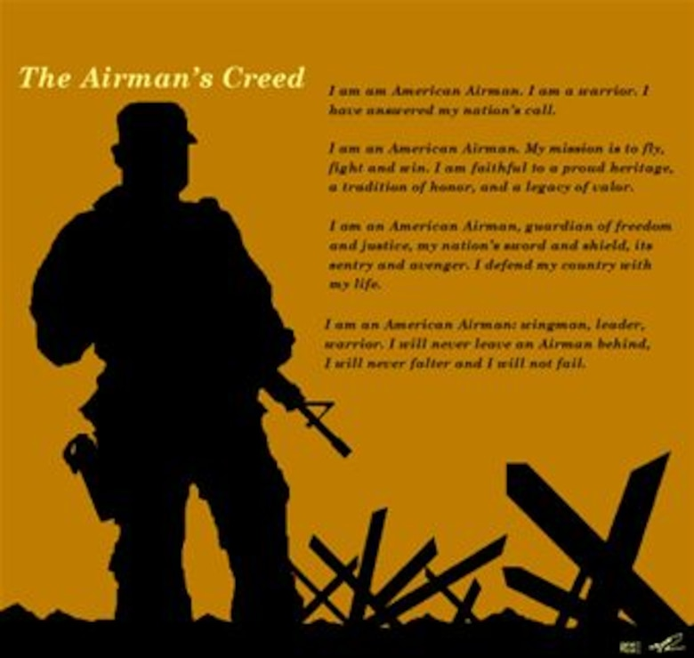 Some personal reflections on the airmans creed osan air base airmans creed poster 1 variation illustrated by ssgt fred m rose image altavistaventures Images
