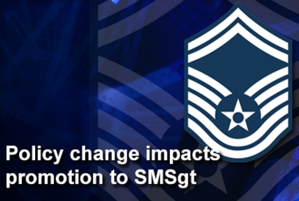 Effective Jan. 1, a new policy will require the completion of resident Air Force Senior NCO Academy prior to promotion to senior master sergeant.  (U.S. Air Force graphic)