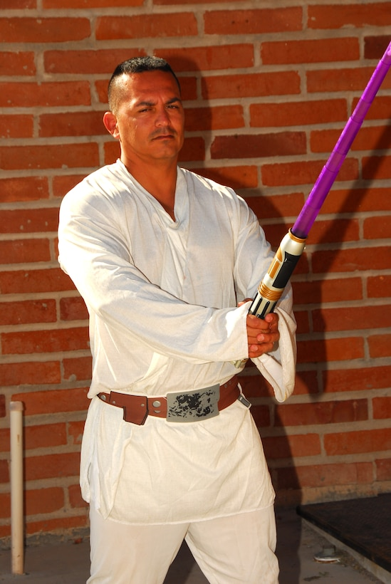 Staff Sgt. Anthony Felix shows off his Luke Skywalker costume at the 2009 Haunted Hangar at Tucson International Airport, Oct. 25. (Air National Guard photo by Master Sgt. David Neve)