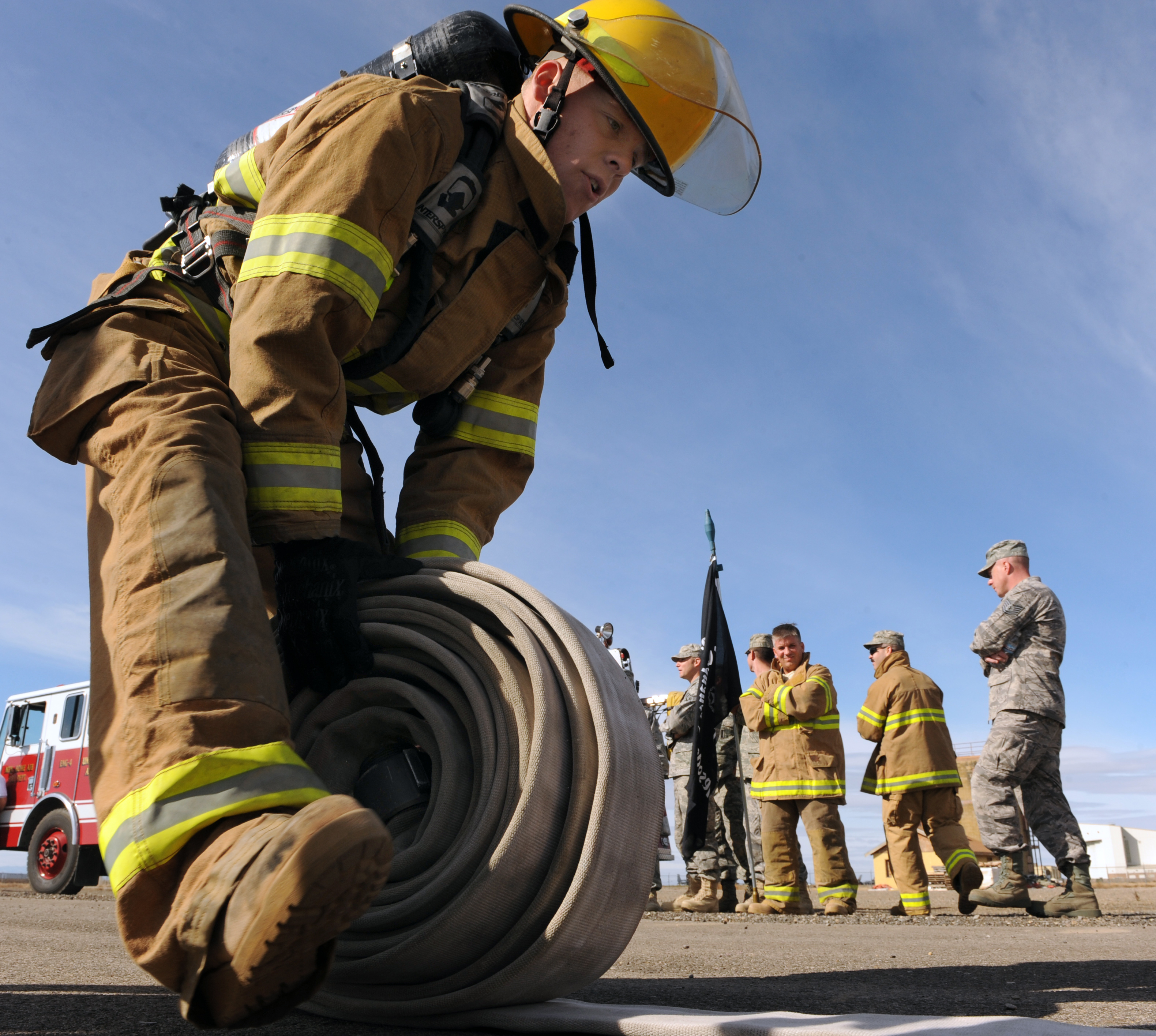 Base fire department takes Fire Muster Challenge title