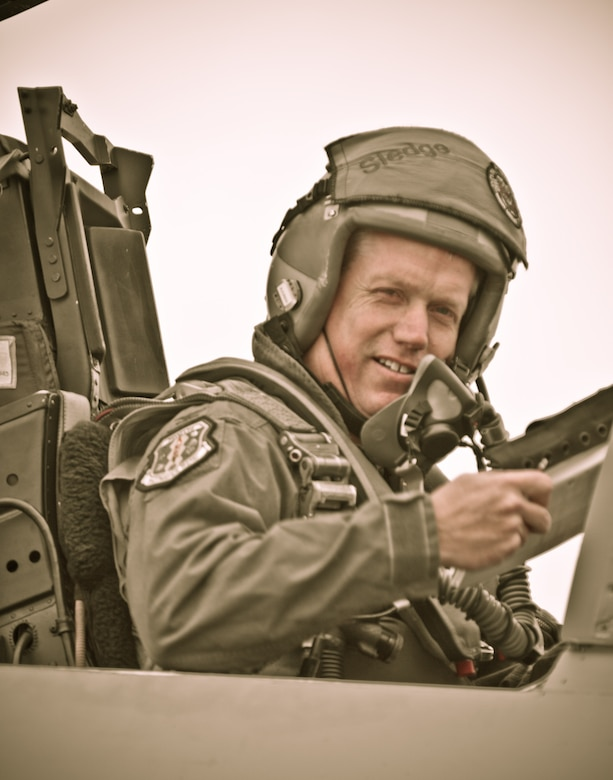 Col. Todd Harmer, 33rd Fighter Wing commander, prepares to take off in an F-15 Eagle during the unit's last large force deployment exercise that occurred in Savannah, Ga., May 11-21. In fulfillment of the wing's transition to Air Education and Training Command, the commander will fly the last F-15 of 54 aircraft to its final destination in Tucson, Ariz., Sept. 8. It will be Colonel Harmer's last flight before departing on a one-year deployment to Southwest Asia and leaving his office empty for a new wing commander Oct. 1, when the official transition will take place. (U.S. Air Force photo/Tech. Sgt. Russ Wells)