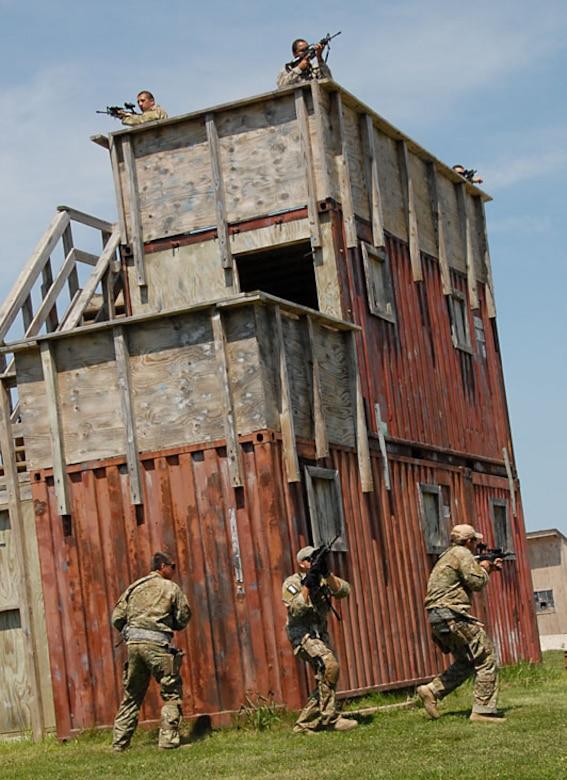 "Small Unit Tactice Traininig ""Point of Domination"". Photo by TSgt Michael Kellams"