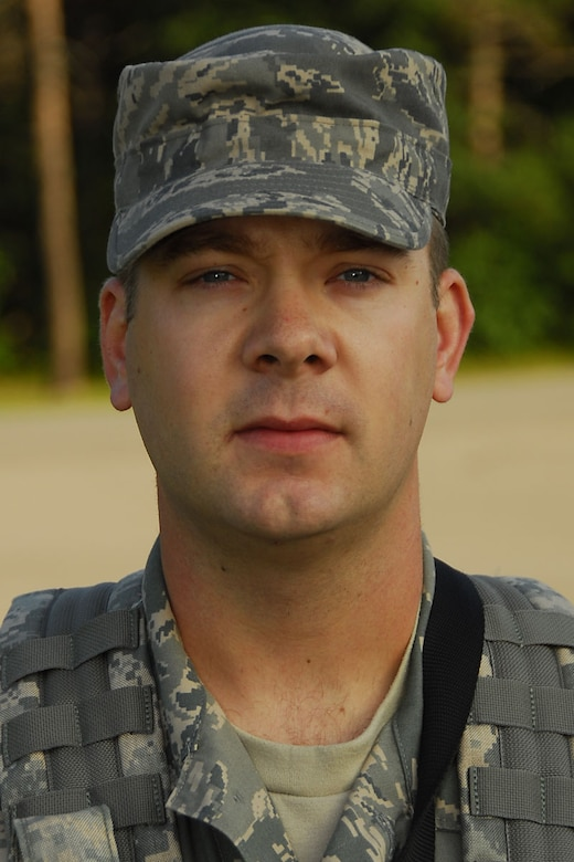 SrA Branden Criss, 181st Security Forces Squadron. Photo by MSgt John Day
