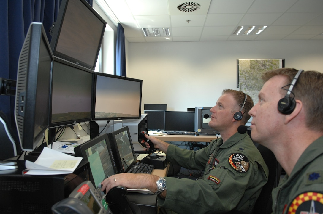 ANG pilots fly simulator for training in USAFE