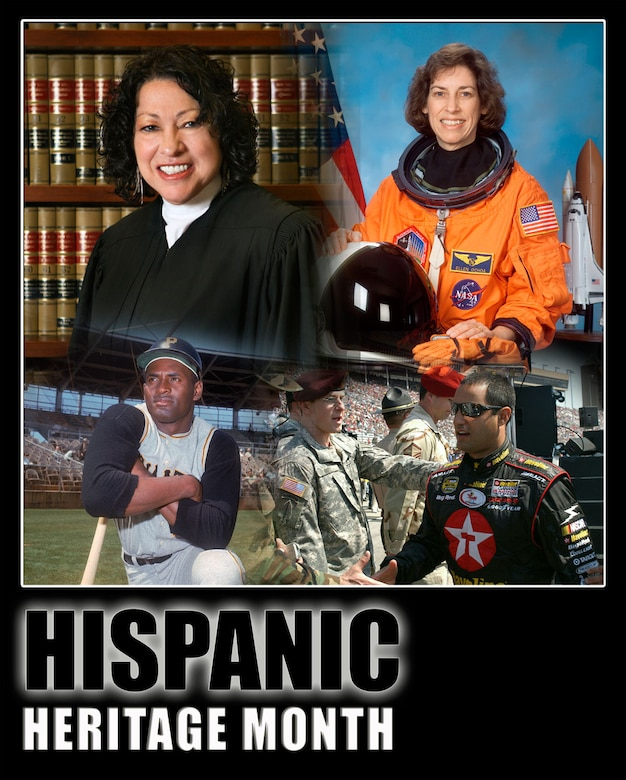 Celebrate the contributions of Hispanic Americans during Hispanic Heritage Month Sept. 15 - Oct. 15. (U.S. Air Force graphic/Travon Dennis)