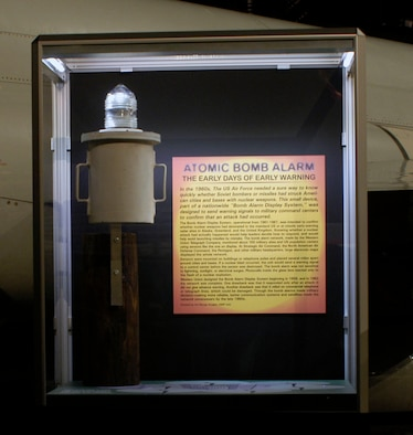 DAYTON, Ohio -- Atomic Bomb Alarm exhibit in the Cold War Gallery at the National Museum of the U.S. Air Force. (U.S. Air Force photo)