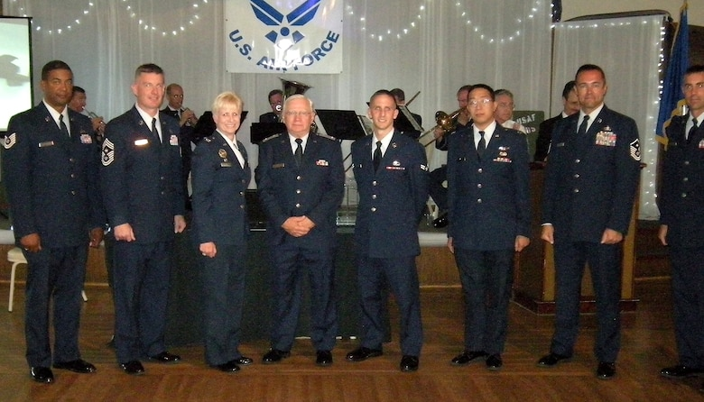 Airmen were recognized for their service during the American Legion Post 291's Air Force 62nd Anniversary celebration at Newport Harbor, Sept. 19.  (Photo by LaGina D. Jackson)