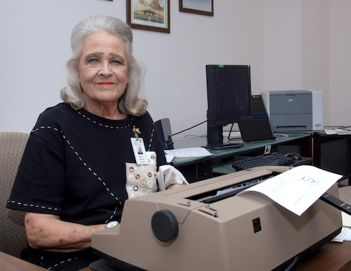 After almost 52 years of government service, 37 of them at the Air Force Historical Research Agency, Helen Weaver will retire Oct. 2. Ms. Weaver said travel is definitely going to be a part of her life after retirement. (U.S. Air Force photo/Melanie Rodgers Cox)