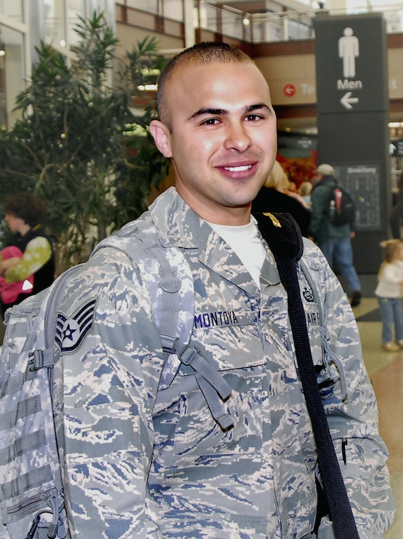 WARRIOR OF THE WEEK -- Staff Sgt. Ramon A.D. Montoya, Air Reserve Personnel Center Headquarters selection board technician, returns from a deployment to Afghanistan in May. Sergeant. Montoya is Team Buckley's Warrior of the Week for Sep. 28 to Oct. 2. (courtesy photo)