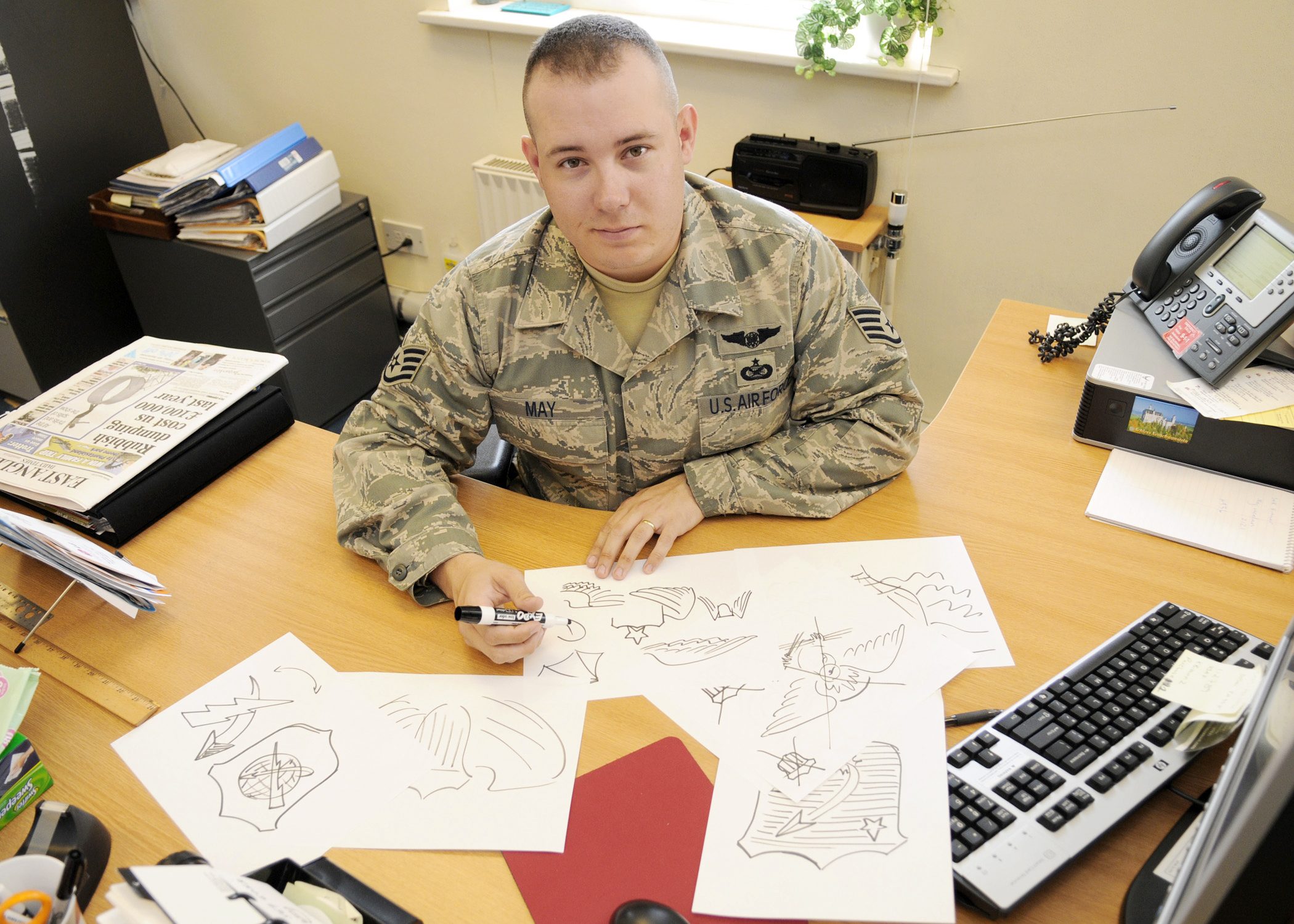 Airman Sketches His Way Into Air Force History With Uas Wings Design - Air-force-occupational-badges
