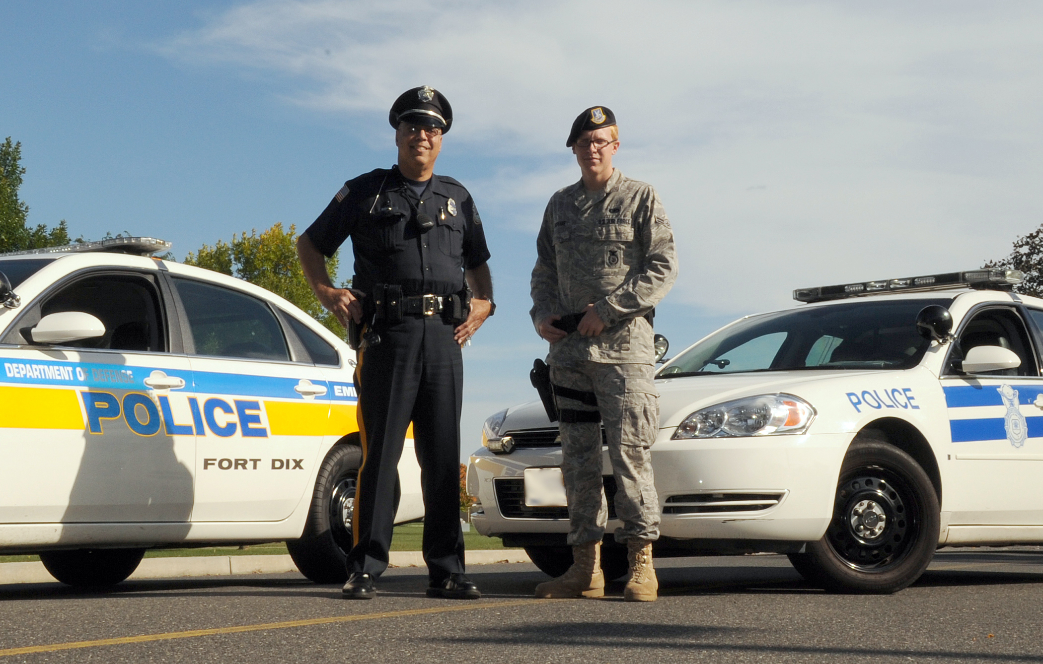 air force security forces dod police collaborate to keep joint base secure