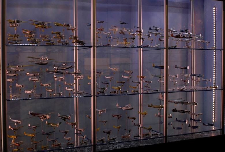 DAYTON, Ohio - Models from the Eugene W. Kettering Model Aircraft Collection on display at the National Museum of the U.S. Air Force. (U.S. Air Force photo)
