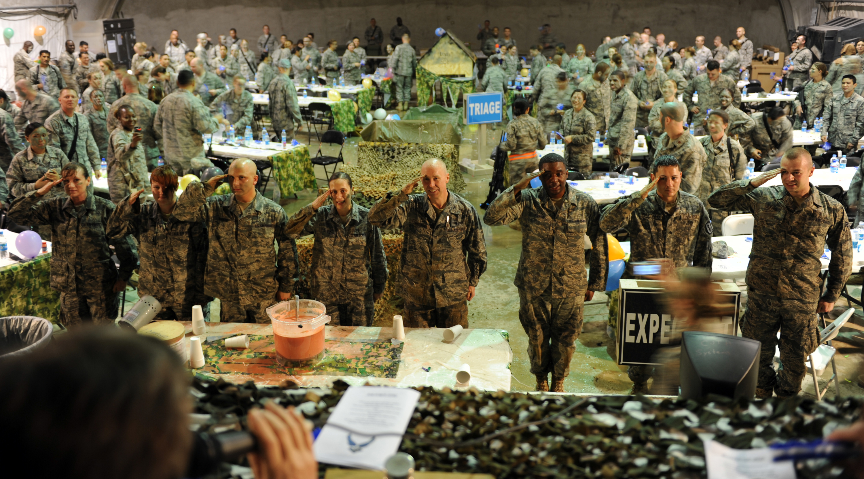 Water Flies During 455th EMDG TF MED E Combat Dining In