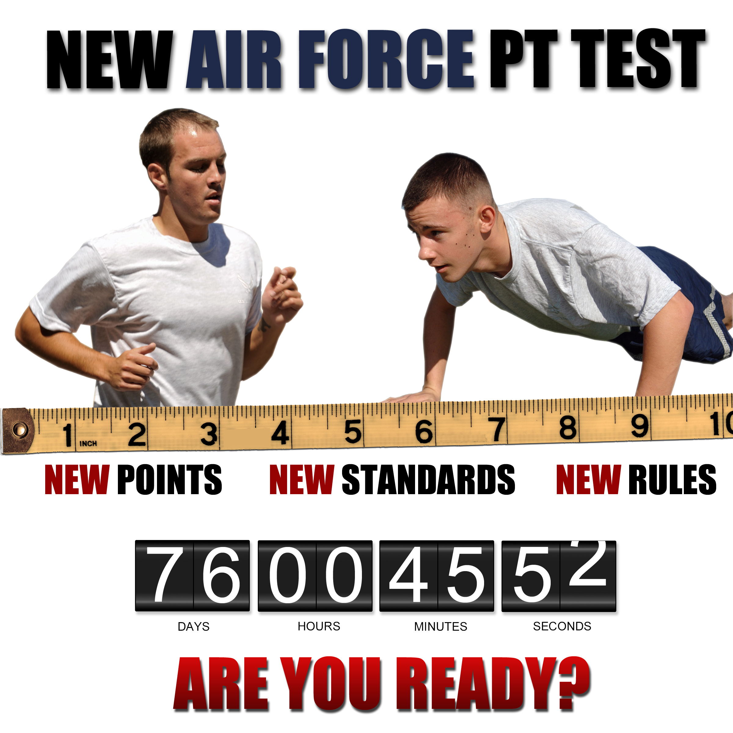 New Air Force-wide PT standards start July 1 > Scott Air Force Base