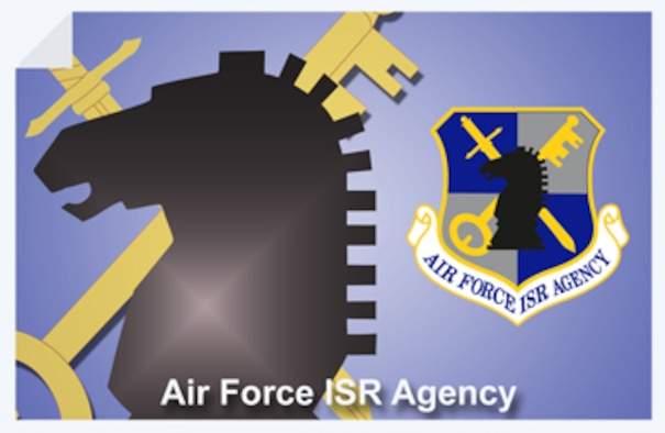 Air Force Intelligence, Surveillance and Reconnaissance Agency web banner. (U.S. Air Force graphic by Andy Yacenda, Defense Media Activity-San Antonio)