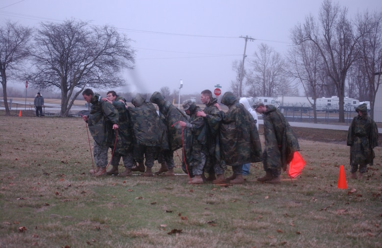 Students from the surrounding region compete in the Raider Challenge competition at the 139th Airlift Wing, St. Joseph Mo., March 30, 2010.