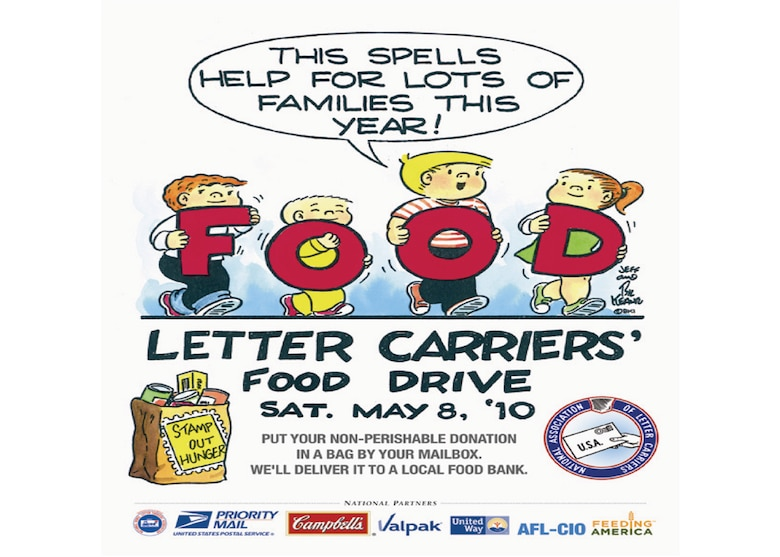 the national association of letter carriers needs your help in collecting food along their local postal