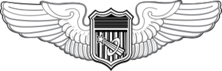 The Astronaut Badge of the United States Air Force, awarded to military pilots who have completed training and performed a successful spaceflight.  The Air Force issues its astronaut badge in three degrees: Basic, Senior, and Command. (Courtesy photo)