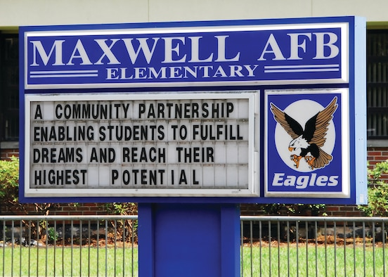 Maxwell Air Force Base Elementary School is gearing up to begin a new academic school year on base. (U.S. Air Force photo/Kimberly L. Wright)