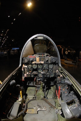 DAYTON, Ohio -- Republic F-84E cockpit at the National Museum of the United States Air Force. (U.S. Air Force photo)