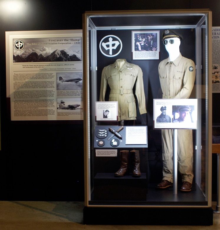 DAYTON, Ohio -- China National Aviation Corporation (CNAC) exhibit in the World War II Gallery at the National Museum of the U.S. Air Force. (U.S. Air Force photo)