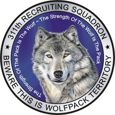 311th Recruiting Squadron shield.