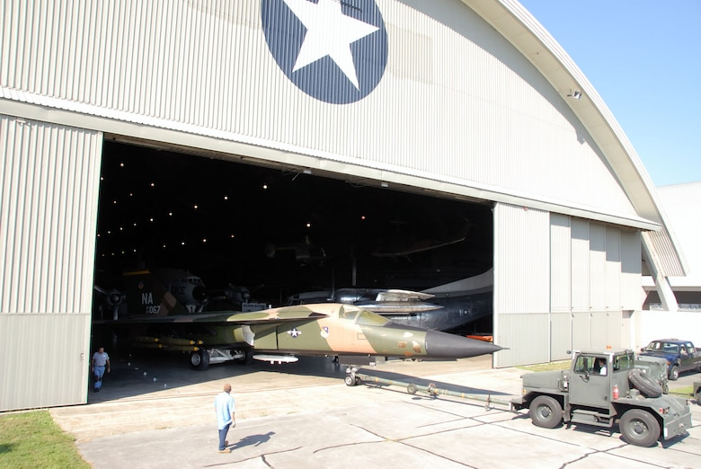 DAYTON, Ohio (08/2010) -- Restoration specialists move aircraft as part of the Southeast Asia War exhibit renovation. (U.S. Air Force photo)