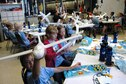 DAYTON, Ohio -- Participants build gliders during Aerospace Camp at the National Museum of the U.S. Air Force. (U.S. Air Force photo)
