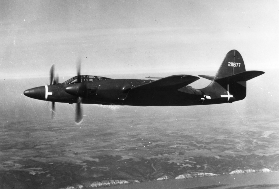 McDonnell XP-67 in flight. (U.S. Air Force photo)